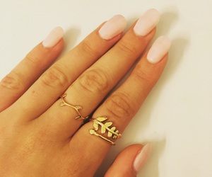 bijoux, girly, and gold image