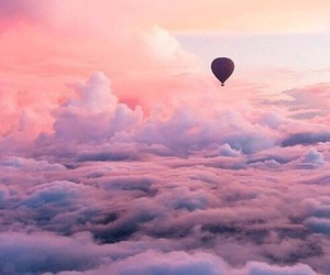 sky, clouds, and balloon image