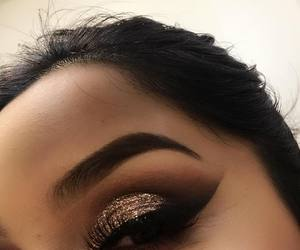 makeup, glitter, and girl image