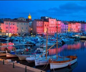 boat, france, and lights image