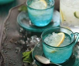 lemon, drink, and tea image