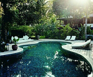 pool, luxury, and nature image