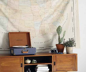 bedroom, indie, and map image