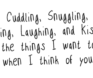 love, quote, and cuddling image