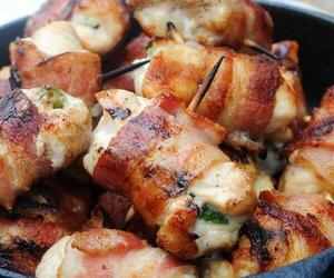 food, bacon, and Chicken image