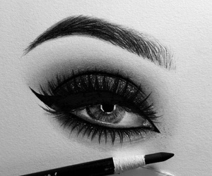 art, black and white, and beautiful image