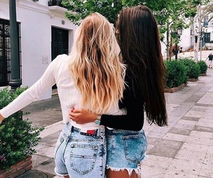 friends, friendship, and hair image