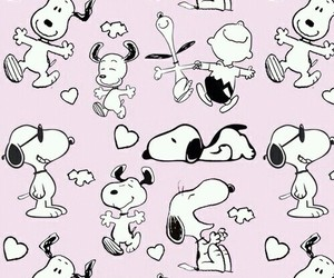 wallpaper, snoopy, and pink image