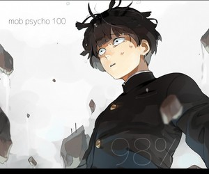 mob psycho 100, anime, and fanart image