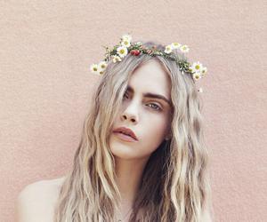 cara delevingne, model, and flowers image