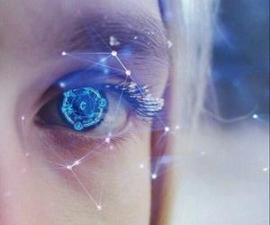 eye, magic, and blue image