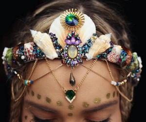crown, mermaid, and corona image