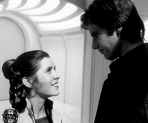 star wars, harrison ford, and carrie fisher image
