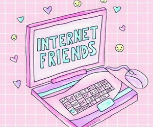 internet, pink, and friends image