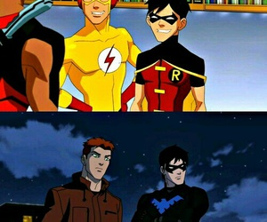 best friends, nightwing, and kid flash image