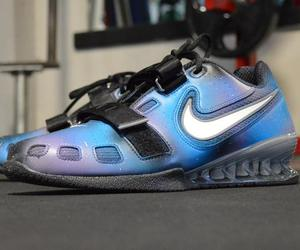 hand painted shoes, unique art shoes, and custom nike sneakers image
