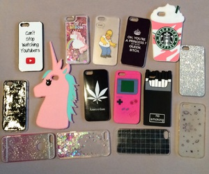 cases, iphone, and unicorn image