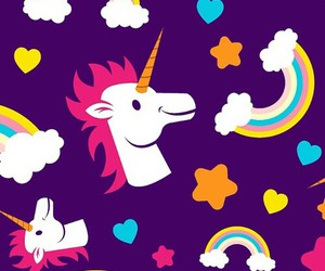 purple, unicorn, and cute image