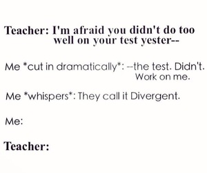 divergent, funny, and teacher image