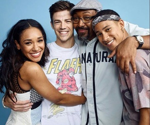 grant gustin, the flash, and candice patton image