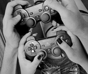 black and white, boyfriend, and game image