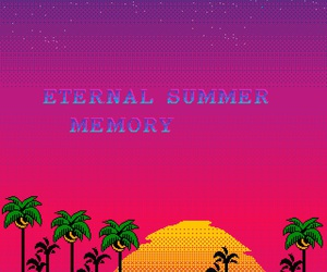 aesthetic, pixel, and summer image