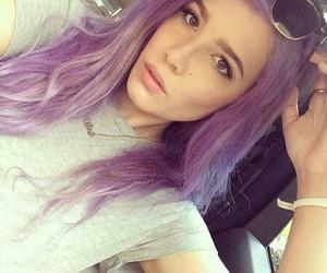 halsey, purple, and purple hair image