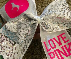 pink, bow, and cheer image
