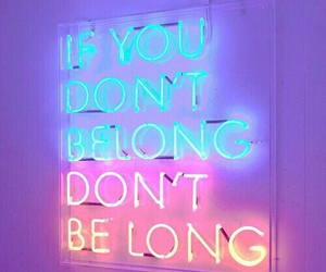 neon lights, frases, and quotes image