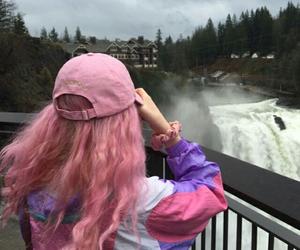 hair, pink, and ulzzang image
