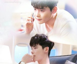 couple, lee jongsuk, and w two worlds image