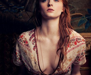 sophie turner, game of thrones, and ginger image