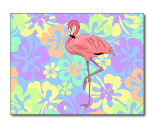 flamingo, flowers, and kitsch image