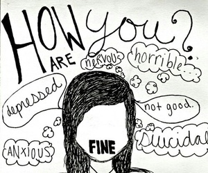 fine, depressed, and sad image