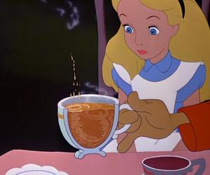 alice, cup, and eyes image
