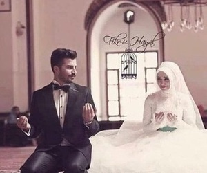 couple, wedding, and islam image