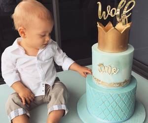 baby, boy, and cake image