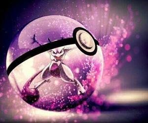 pokemon, pokeball, and mewtwo image