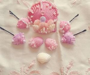 mermaid, shells, and hairclips image
