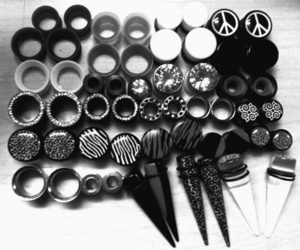 Plugs, black and white, and gauges image