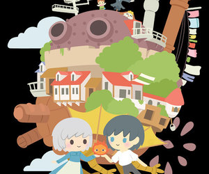 anime, gift, and howls moving castle image