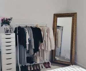 bedroom, shoes, and decor image