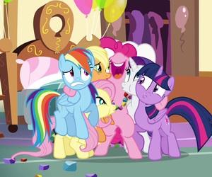 hug, MLP, and my little pony image