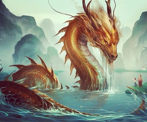 dragon, fantasy, and art image