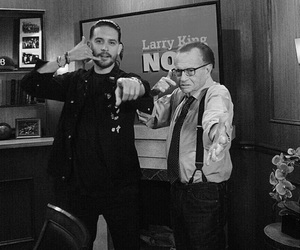 larry king, letterman, and eazy image