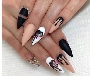 nails, kylie, and black image