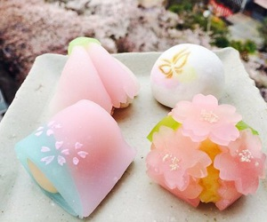 japanese, pink, and sweets image