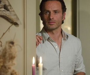andrew lincoln, rick grimes, and the walking dead image