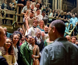 hamilton, musical, and president obama image