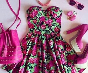 and, green, and pink image